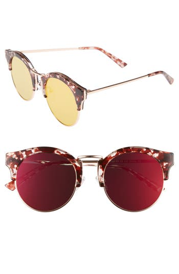 Bonnie Clyde Broadway 51Mm Retro Sunglasses - Lovesick Red