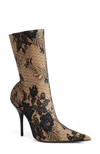 Balenciaga Pointy Toe Mid Boot, Black