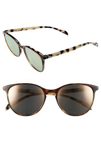 Women's Salt Kiani 53Mm Polarized Retro Sunglasses - Chestnut Bisque/ Rose Mirror