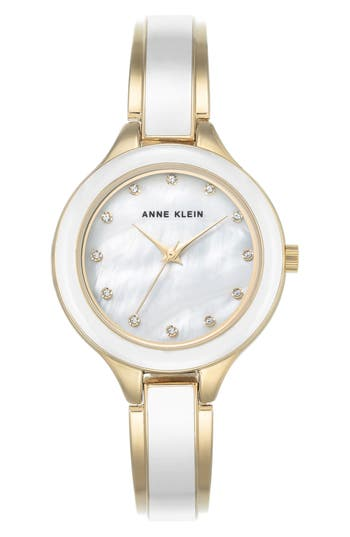 Women's Anne Klein Enamel Bangle Watch, 32Mm