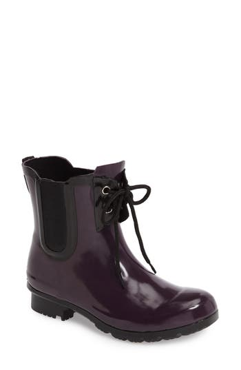Roma Waterproof Chelsea Rain Boot, Purple