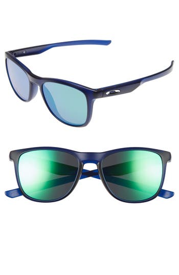 Oakley Trillbe X 52Mm Sunglasses - Clear Blue/ Jade Iridium