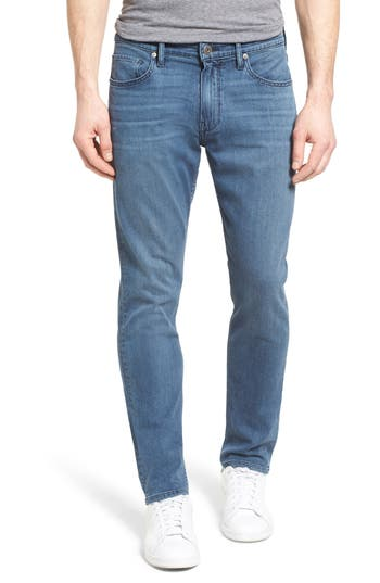 Big & Tall Paige Transcend - Federal Slim Straight Leg Jeans, Blue