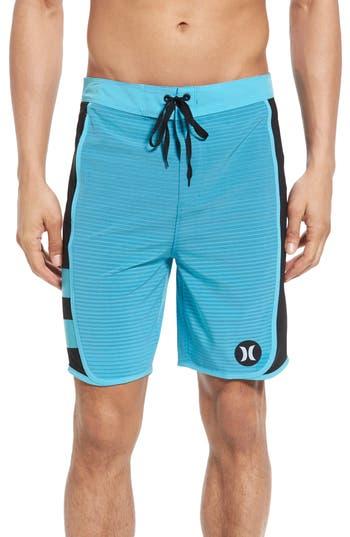Big & Tall Hurley Phantom Motion Stripe Board Shorts, Blue