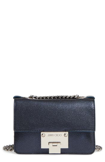 Jimmy Choo Mini Rebel Metallic Leather Crossbody Bag -