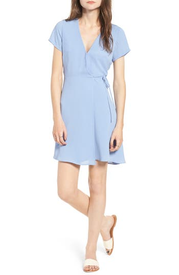 Women's Lush Olivia Wrap Dress, Size X-Small - Blue