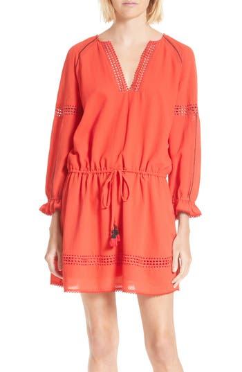 Women's Rebecca Minkoff Aulani Shift Dress, Size 00 - Red