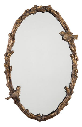 Uttermost Paza Vine Oval Wall Mirror, Size One Size - Metallic
