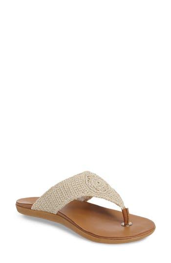 Sakroots Sarria Flip Flop, White