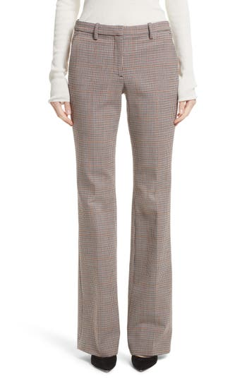 Theory Demitria 2 Flare Leg Stretch Wool Pants, Beige