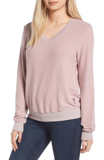 Women's Wildfox V-Neck Pullover, Size X-Small - Purple