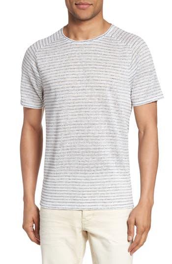 John Varvatos Star Usa Plated Stripe T-Shirt, White