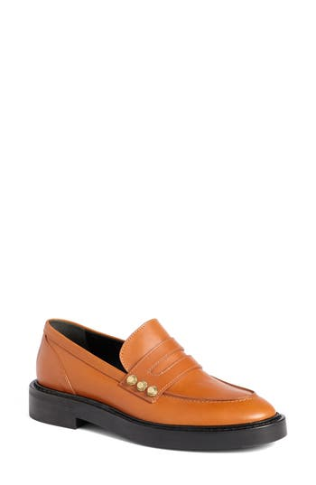 Balenciaga Arena Studded Loafer, Brown