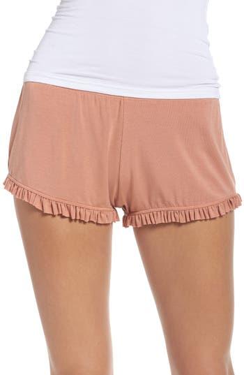 Women's Olympia Theodora Bae Ruffle Lounge Shorts, Size X-Small - Pink