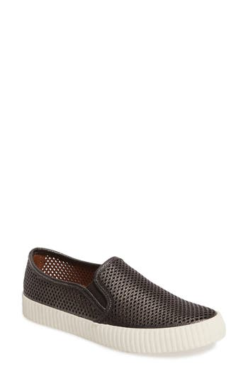 Frye Camille Perforated Slip-On Sneaker, Metallic