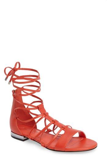 Calvin Klein Elina Lace-Up Sandal, Pink