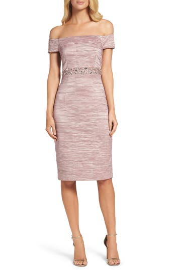 Eliza J Off The Shoulder Taffeta Dress