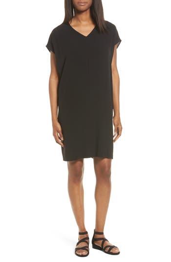 Eileen Fisher Silk Shift Dress, Black