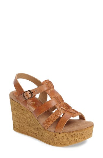 Women's Sbicca Pluto Wedge Sandal, Size 9 M - Brown