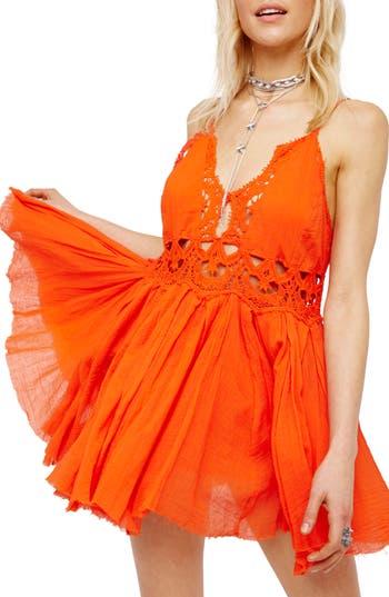 Free People Ilektra Lace Minidress, Red