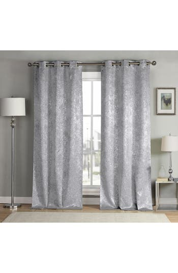 Duck River Textile Maddie Metallic Blackout Pole Top Window Panels