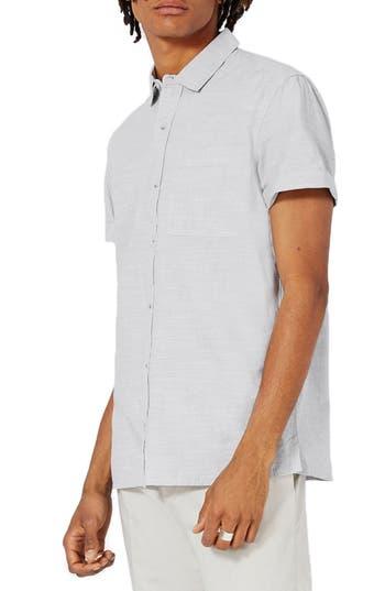 Men's Topman Slub Cotton Shirt