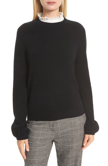 Joie Affie Wool & Cashmere Sweater, Black