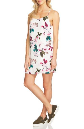 1.state Floral Print Slipdress, White