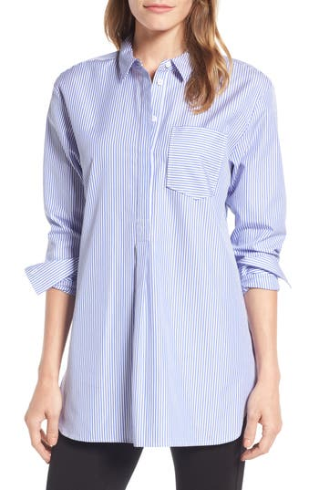 Women's Nordstrom Signature Mixed Stripe Shirt