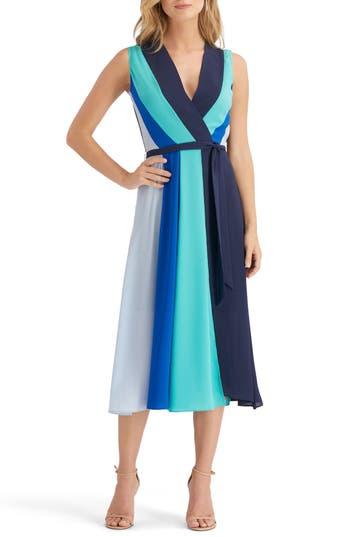Eci Stripe Midi Dress, Blue