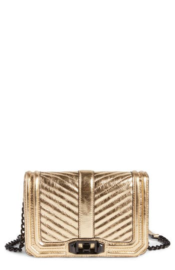Rebecca Minkoff Small Love Metallic Leather Crossbody Bag -