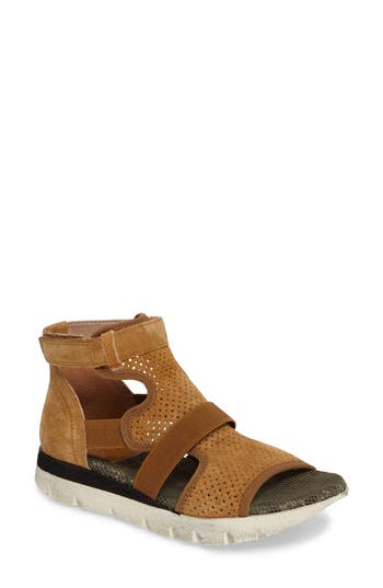 Women's Otbt Astro Perforated Gladiator Sandal, Size 6 M - Brown