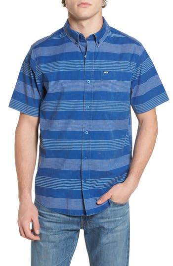 Hurley Stripe Oxford Shirt, Blue