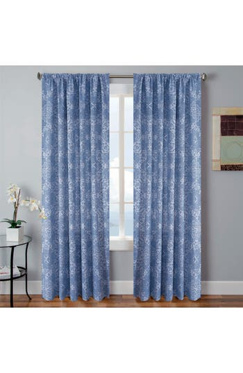 Vera Tarah Window Panels, Size One Size - Blue