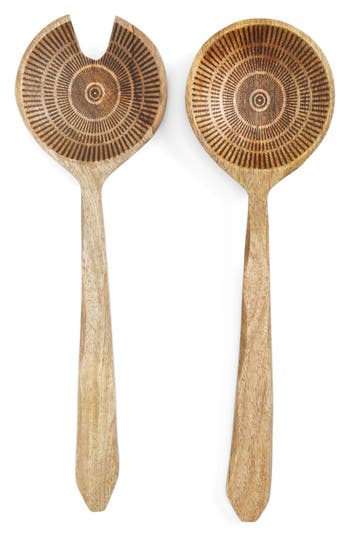 Thirstystone Global Trek Canyon Salad Servers, Size One Size - Brown