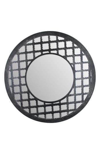 Era Home Round Lattice Mirror, Size One Size - Metallic
