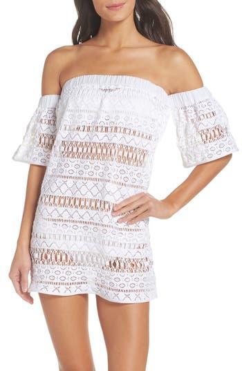 Women's Milly Crochet Cover-Up Dress, Size Medium - White