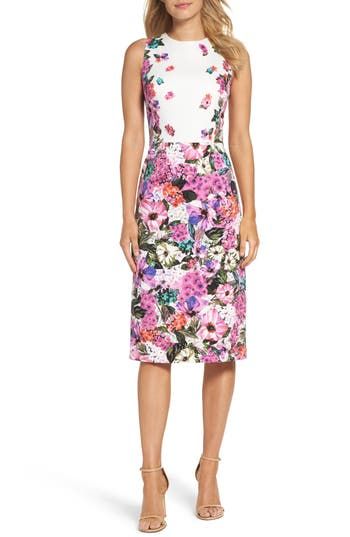 Maggy London Floral Garden Sheath Dress