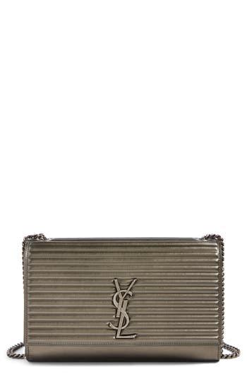 Saint Laurent Medium Kate Matelassé Leather Shoulder Bag - Grey