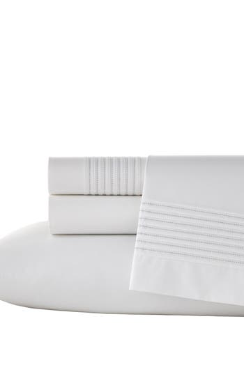 Vera Wang Mirrored Square 400 Thread Count Pillowcases, Size Queen - White