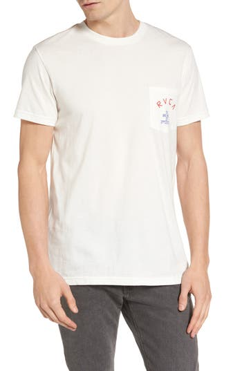 Rvca Stoop Music Pocket Graphic T-Shirt, White