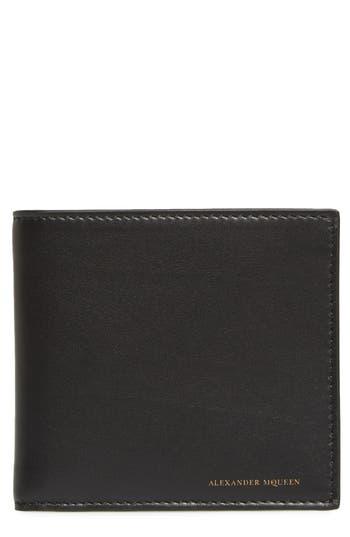 Alexander Mcqueen Leather Wallet - Black