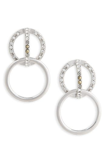 Women's Judith Jack Silver Sparkle Double Drop Earrings