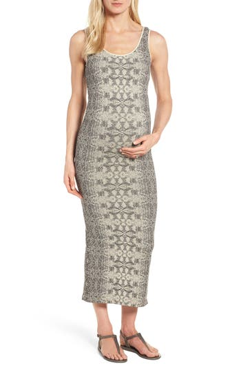 Tees By Tina Snake Print Maternity Maxi Dress, Size One Size - Ivory