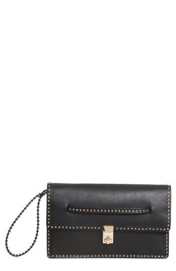 Valentino Garavani Rockstud Calfskin Leather Clutch -