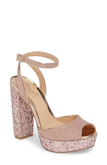 Jewel Badgley Mischka Luke Platform Sandal