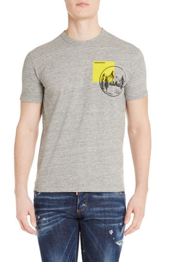 Dsquared2 Mountain Chest T-Shirt, Grey