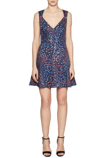 French Connection Frances Fit & Flare Dress, Blue