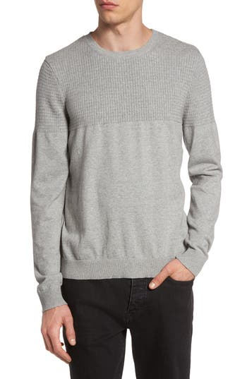 Topman Textured Sweater, Grey