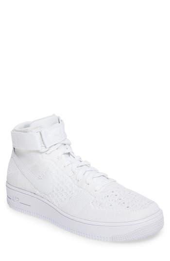 Nike Air Force 1 Ultra Flyknit Mid Sneaker, White